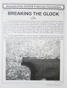 Journal of Glock Collectors Association Volume 12, Issue 1