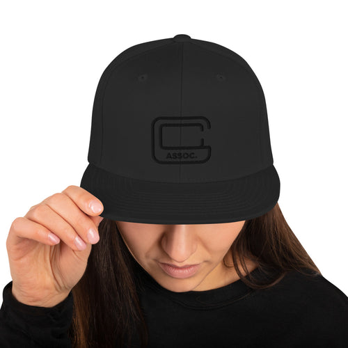 GCA Snapback Hat Black on Block