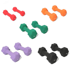 5kg Neoprene Dumbells - Black