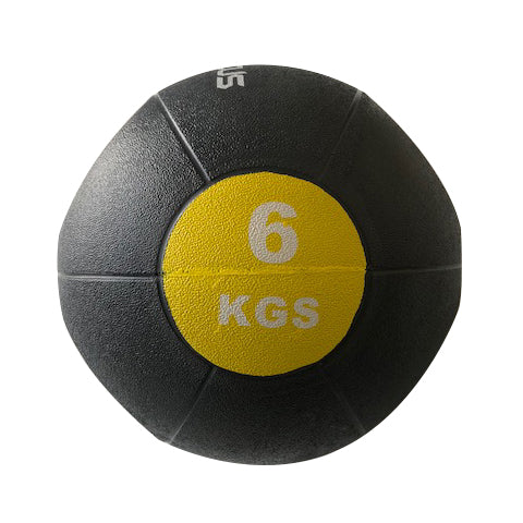 6kg Medicine Ball - Double Grip - Gray