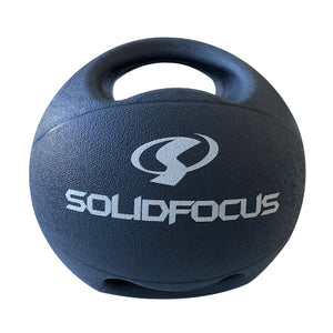10kg Medicine Ball - Double Grip - Gray