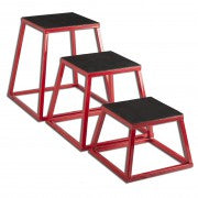 Plyo Box Set of 3 - red frame 30,45,60
