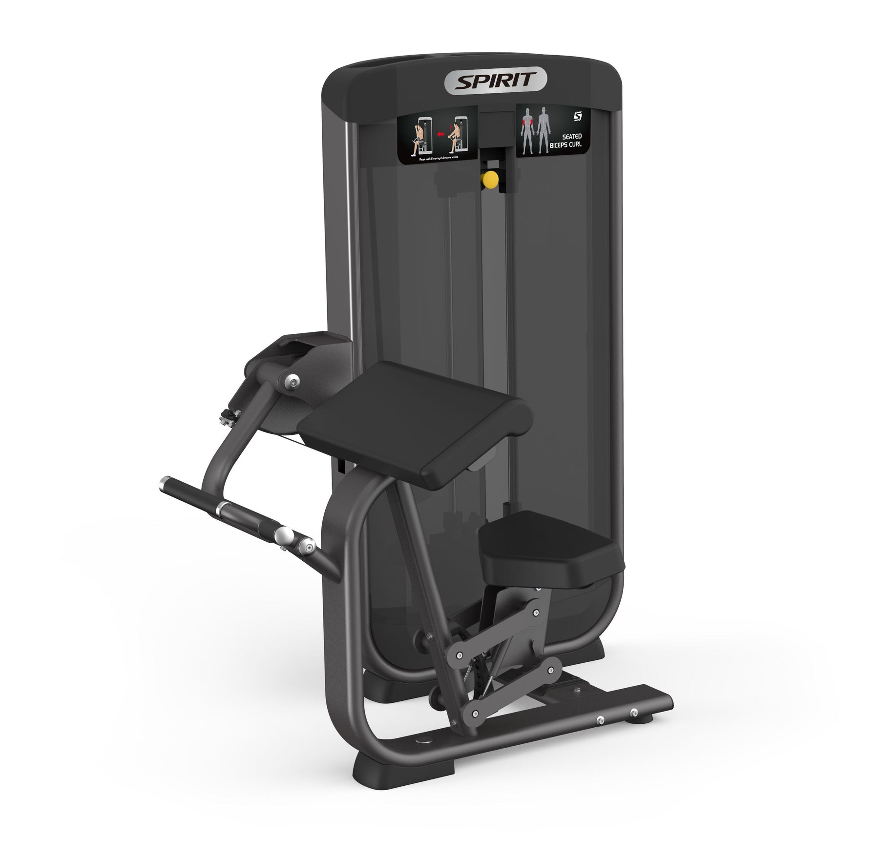 Spirit Fitness Selectorized Seated Biceps Curl