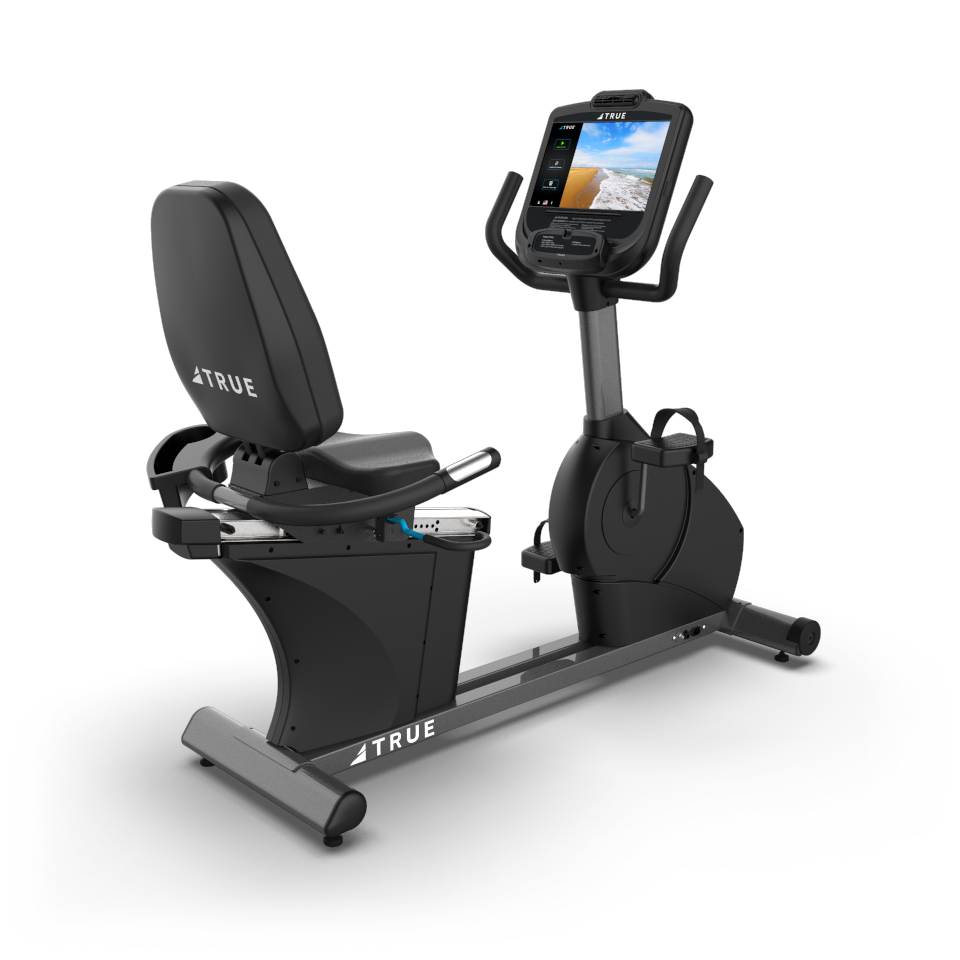 True Fitness C400 Recumbent bike with 2 window LED console