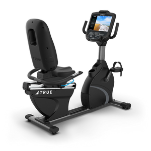 True Fitness C900 Recumbent bike with 2 window LED console