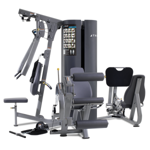 True Fitness Multi-station MP3.5 - 3 Stack/4 Stations-Upper Body, Leg Ext/Curl, Low Pulley, Leg press