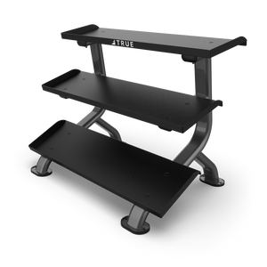 True Fitness Force 3-Tier Flat Tray Dumbbell Rack