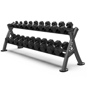 True Fitness XFW 12 Pair Dumbbell Rack Charcoal