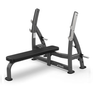True Fitness XFW Supine Press Bench with plate holders Charcoal
