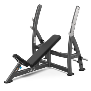 True Fitness XFW Incline Press Bench with plate holders Charcoal