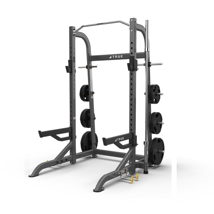 True Fitness XFW Half Rack with plate holders Charcoal