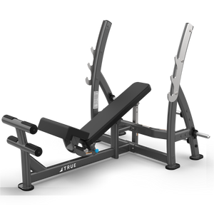 True Fitness XFW 3 Way Press Bench with plate holders Charcoal