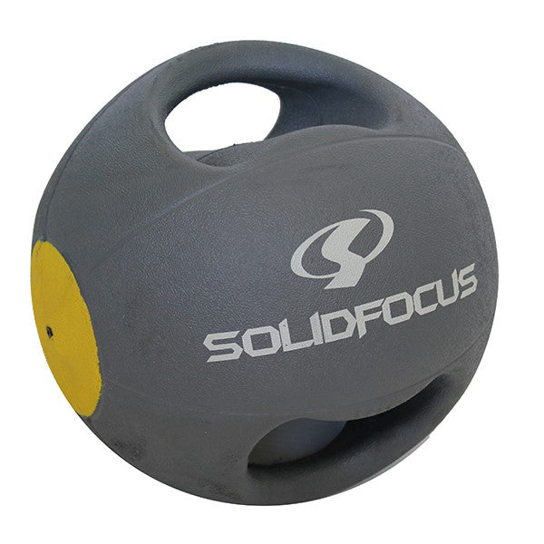 7kg Medicine Ball - Double Grip - Gray