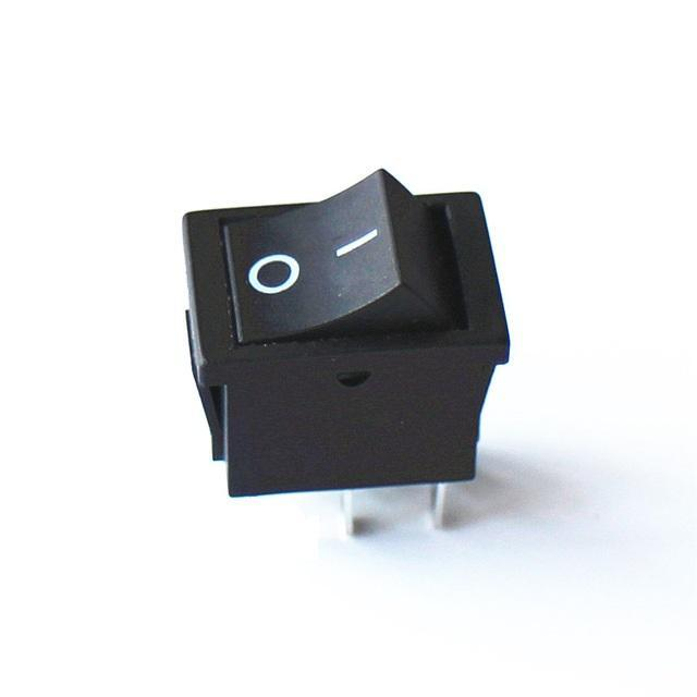 Interruptor negro ON/OFF 6A 250v - RoboTec