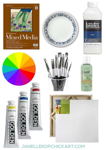 acrylic painting supplies on a budget