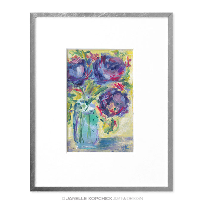 February Flowers #11 Original Floral Painting