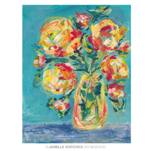 February Flowers #19 Original Floral Painting