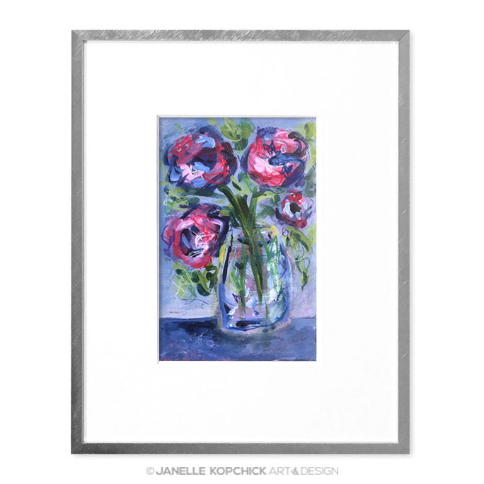 February Flowers #22 Original Floral Painting
