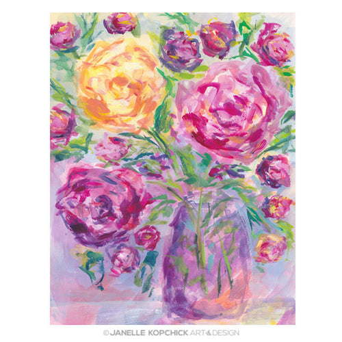 February Flowers 2021 #19 Original Floral Painting