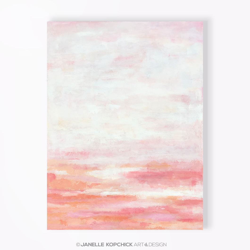 pink art for a nursery or girls room