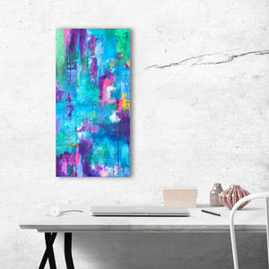 blue and purple abstract art painting
