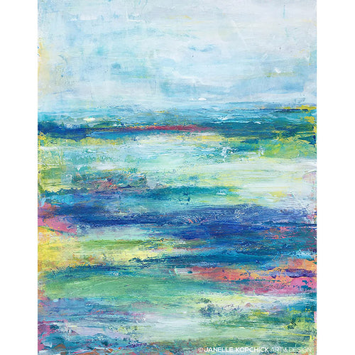 original abstract art print of Antigua