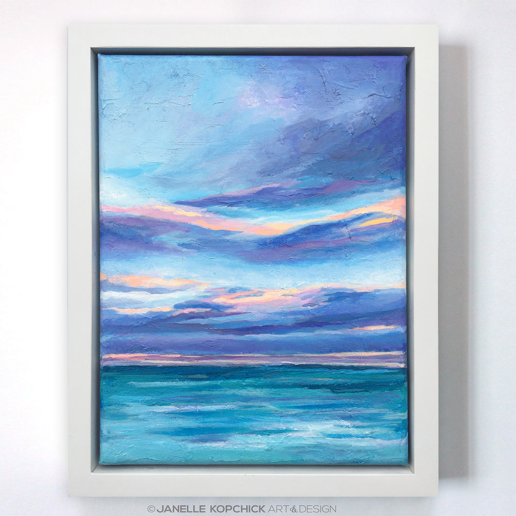 Chesapeake Bay Framed Abstract Seascape I Painting 9x12