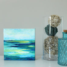 Load image into Gallery viewer, Inlet Mini Abstract Seascape I Painting 6x6