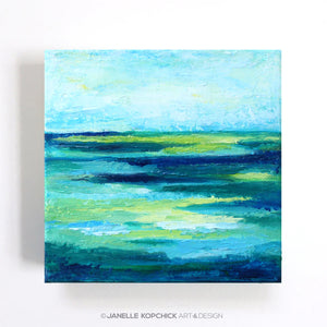 Inlet Mini Abstract Seascape I Painting 6x6