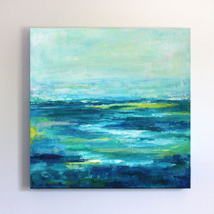 Inlet Original Abstract Seascape Painting 20x20