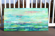 Load image into Gallery viewer, Lily Pads Original Abstract Painting 24x48
