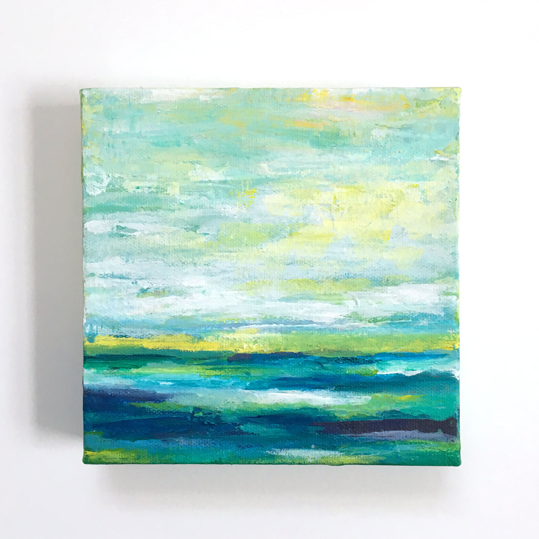 Mini Abstract Seascape I Painting 6x6