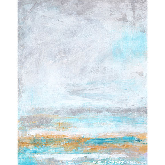 Ocean Tide Abstract Seascape Giclée Print 11x14