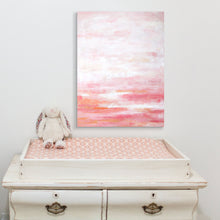 Load image into Gallery viewer, pink abstract art for a nursery or girls room