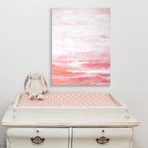 pink abstract art for a nursery or girls room