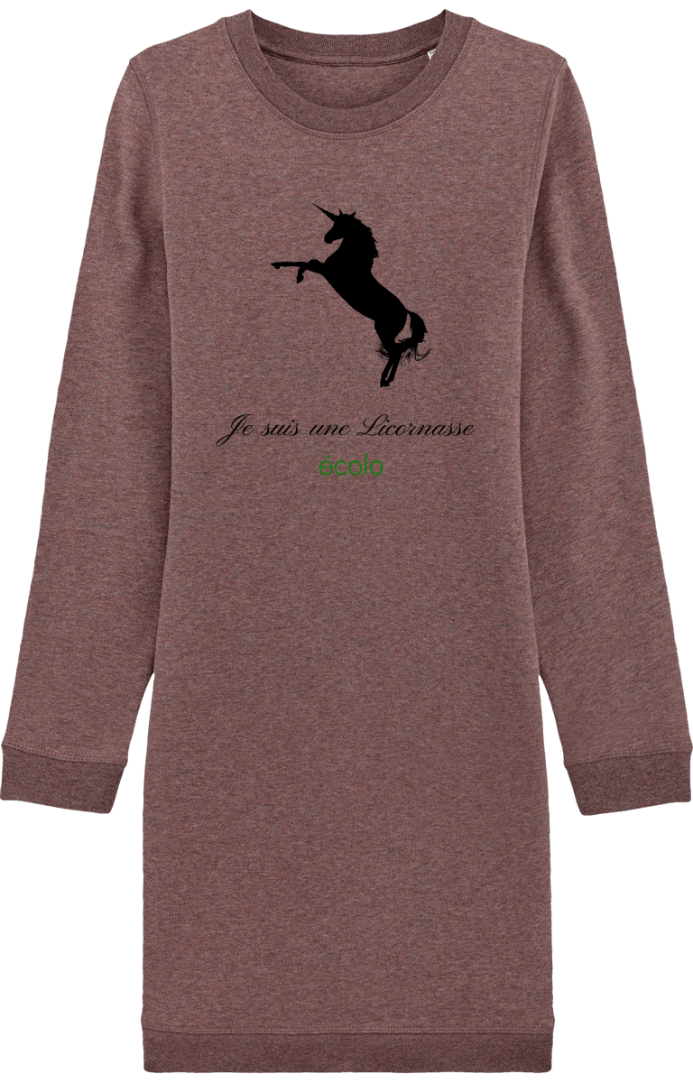 Robe Sweat-Shirt Licornasse écolo
