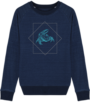 Sweat Denim cintré crabe Protect the ocean