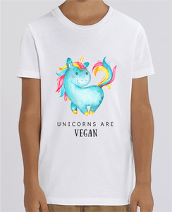 T-Shirt Bio Enfant Unicorns are Vegan