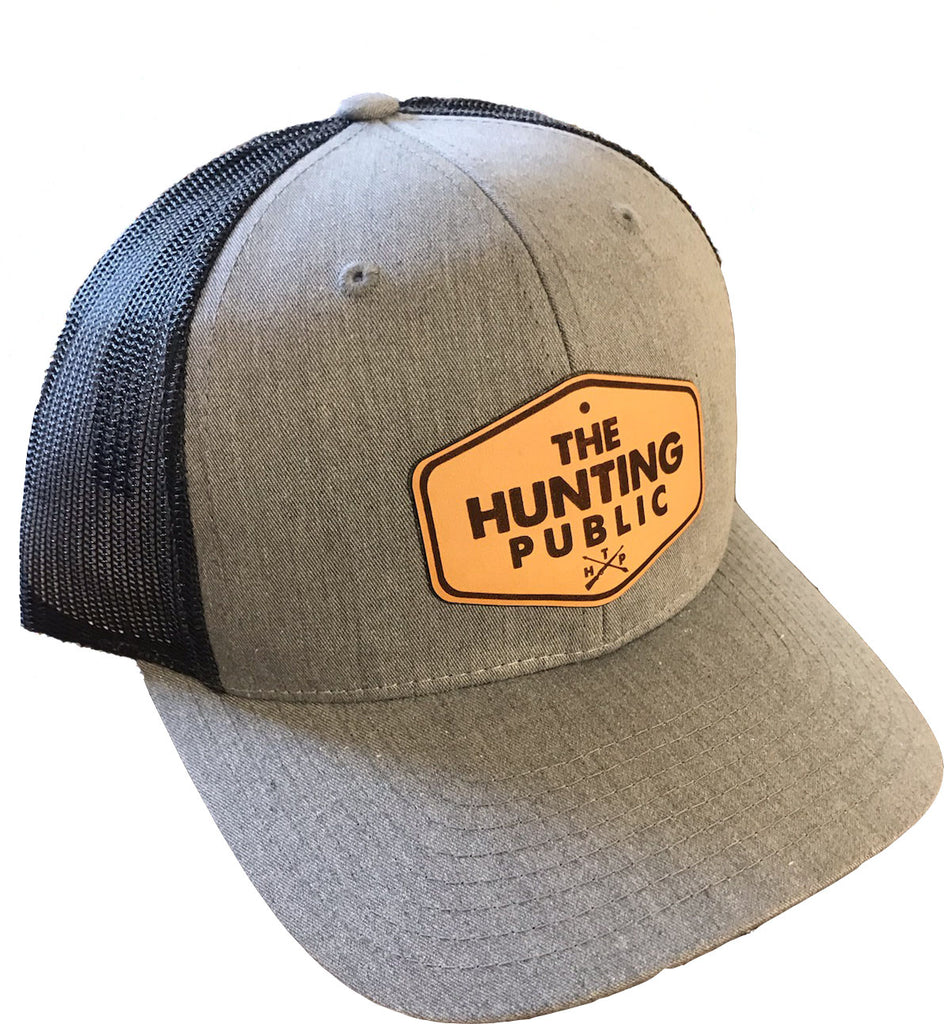 Athletic Heather THP Leather Patch Hat