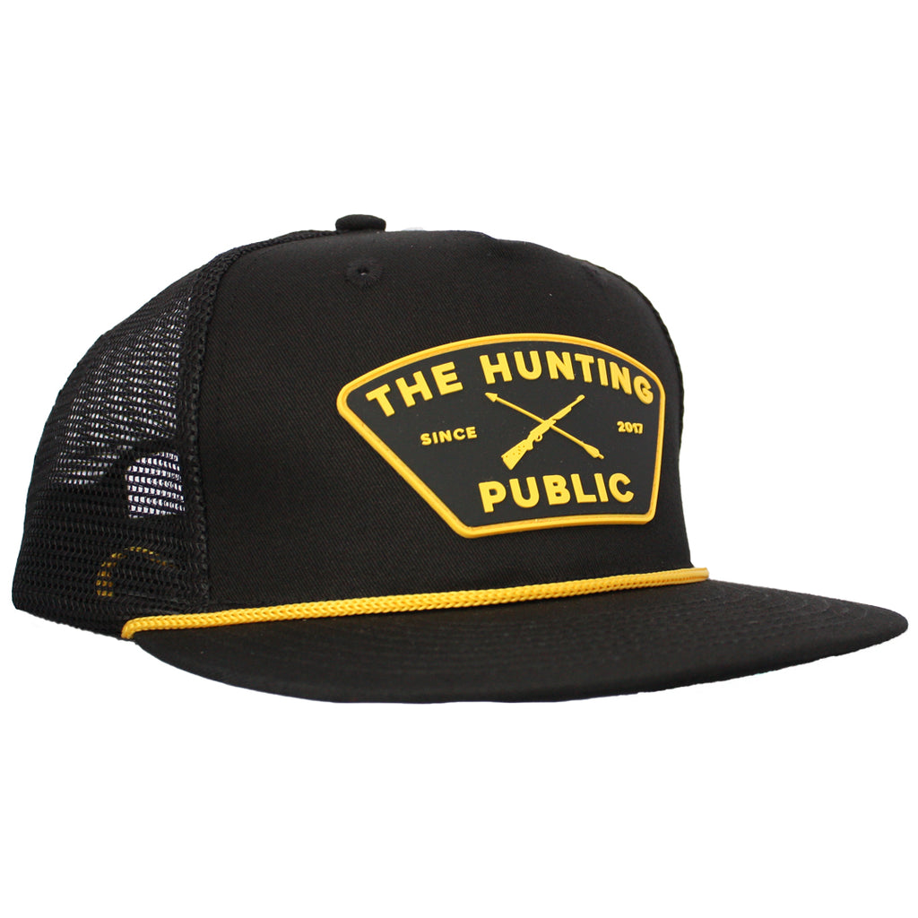Black THP Rope Hat- Flat Brim