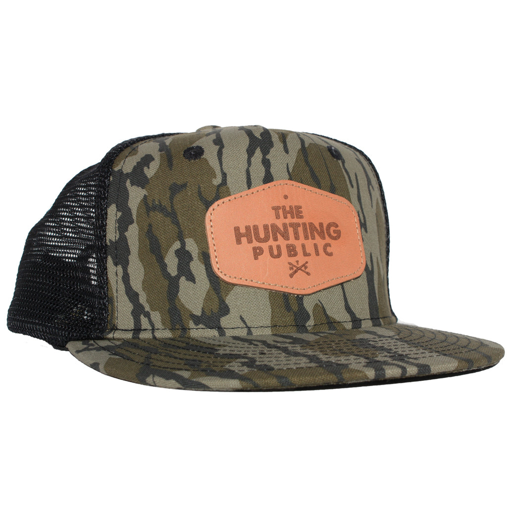 Bottomland Leather Patch Hat- Flat Brim