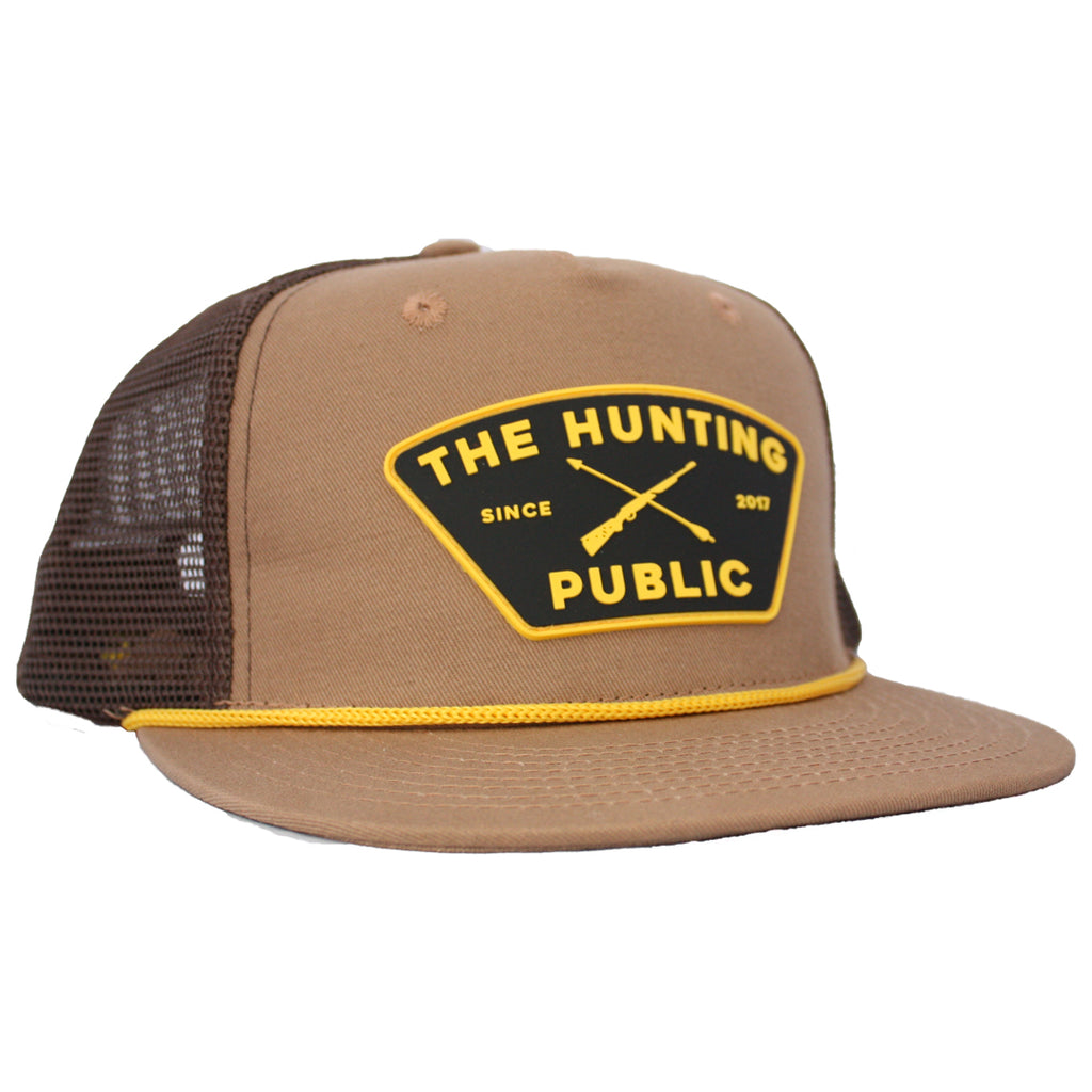 Brown THP Rope Hat- Flat Brim