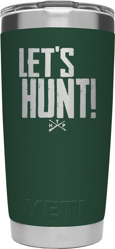 LET'S HUNT Yeti 20 oz. Tumbler - Forest Green