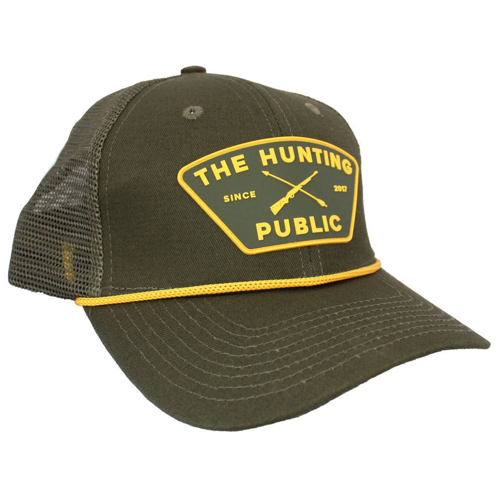 Green THP Rope Hat- Bent Brim