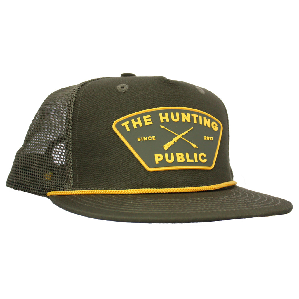 Green THP Rope Hat- Flat Brim
