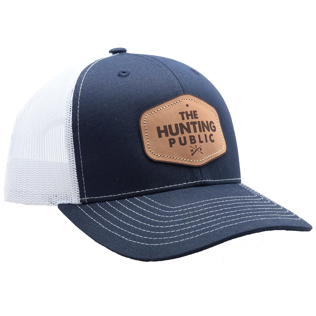 Navy Heather THP Leather Patch Hat