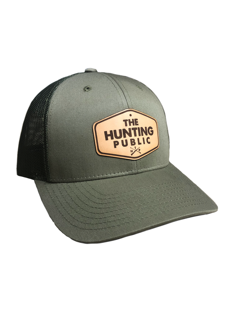 Olive Green THP Leather Patch Hat