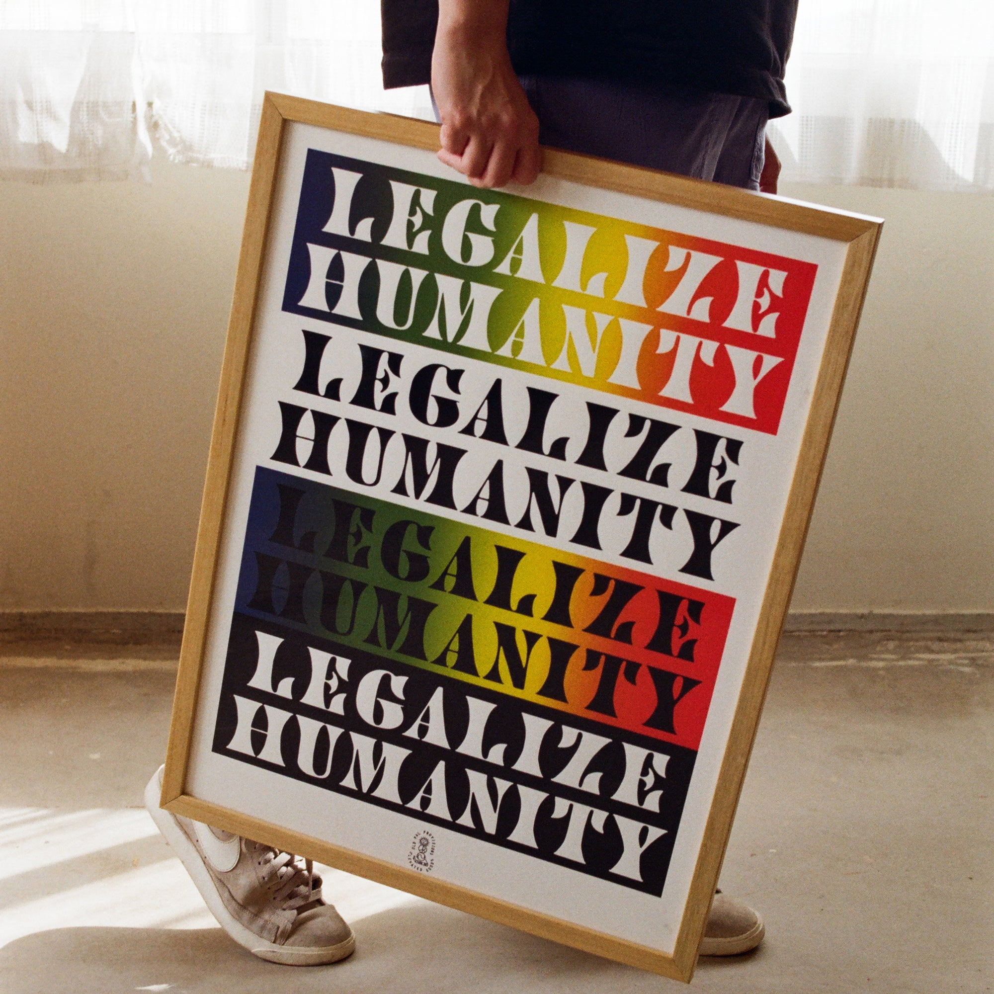 Legalize Humanity Stacked Print