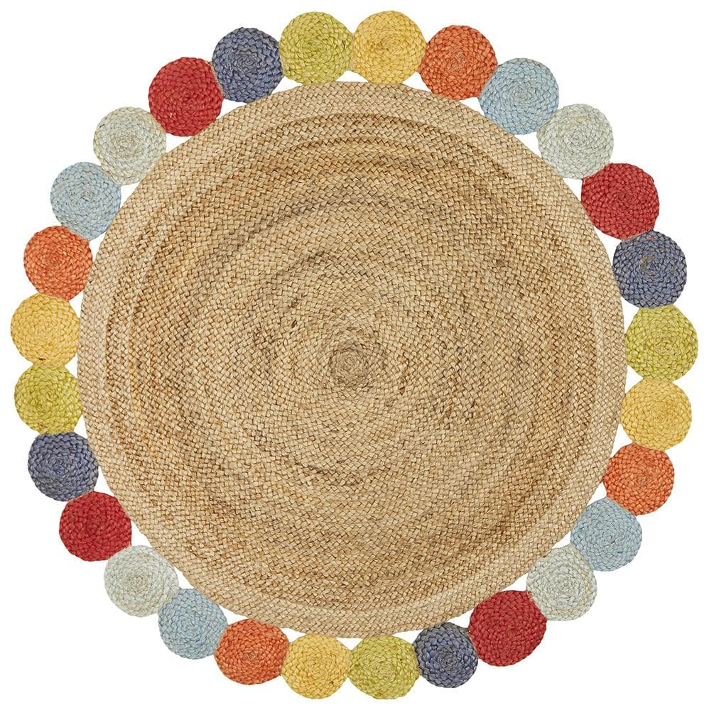 Lively Jute - Natural Multi [Round]
