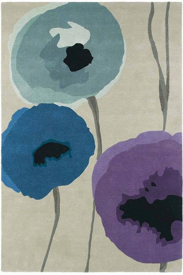 Sanderson Poppies - Indigo Purple